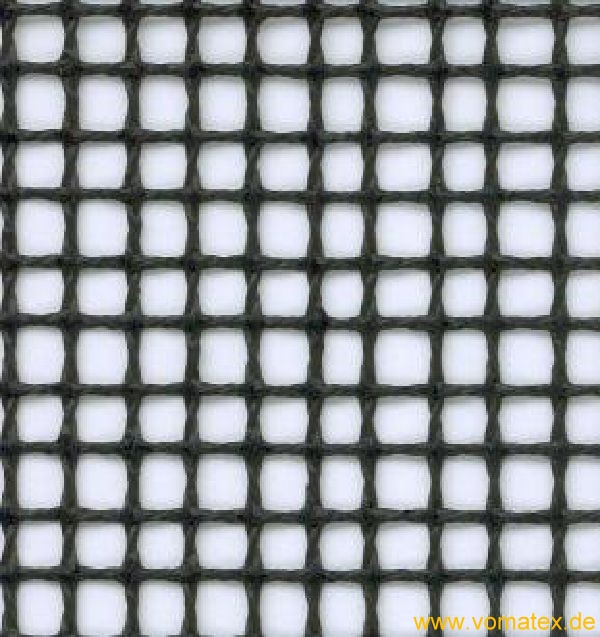 PTFE coated glass mesh fabric, black, antistatic, 4 x 4 mm