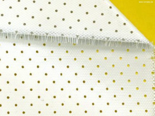 Glass fabric, both sides silicone coated, perforated