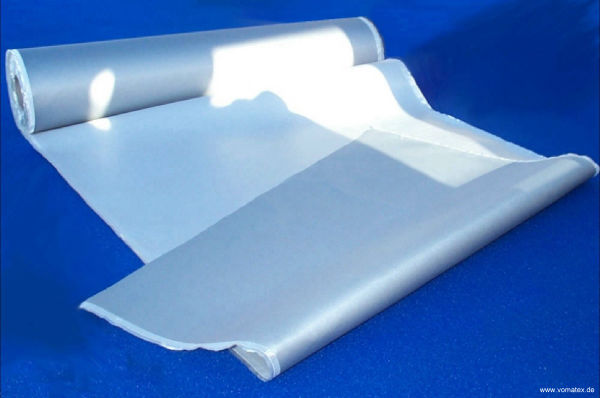 Thermo glass fabric, one side PU/Aluminium coated